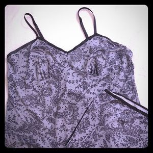 SOMA XL Cami Capri Set Pajamas PJs Top Bottoms